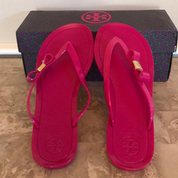 1c7854491842 Tory Burch Shoes - Tory Burch Michaela Bow Jelly Flip Flops